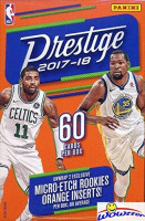 2017/18 Panini Prestige NBA Basketball HUGE 60 Card Factory Sealed HANGER Box with (2) Micro-Etch ROOKIES! Look for RC's & AUTOGRAPHS of Donovan Mitchell, Jayson Tatum, Lonzo Ball & More! WOWZZER! at 's Sports Collectibles Store