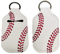 Hand Sanitizer Holder for Backpack Kids Travel Size Baseball Softball Keychain (Baseball, Pack of 2): Health & Personal Care