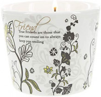 Pavilion Gift Company Friend-Single 8 Oz Soy Wax 100% Lead-Free Cotton Wick in Stoneware Vessel Candle, Black: Home & Kitchen