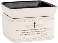 Elanze Designs for I Know The Plans I Have for You Ceramic Stone 2-in-1 Tart Wax Oil Candle Warmer: Home & Kitchen