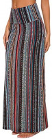 Urban CoCo Women's Stylish Spandex Comfy Fold-Over Flare Long Maxi Skirt at Women's Clothing store