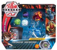 Bakugan Battle 5-Pack Pyrus Maxotaur & Aquos Mantonoid Collectible Cards & Figures: Toys & Games