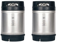 Two New 2.5 Gallon Ball Lock Kegs - Dual Rubber Handles + Free O-Ring Kit: Kitchen & Dining