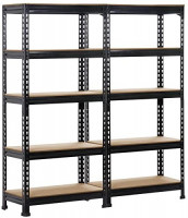 Yaheetech 2 Pack Shelving Units and Storage Shelves Heavy Duty Garage Shelving Shelves Utility Shelves Adjustable Height, 59 inch: Home Improvement