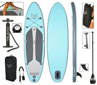 """Vilano Navigator 10' 6"""" Inflatable SUP Stand Up Paddle Board Package : Sports & Outdoors"""