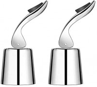 OHMAXHO Wine Stoppers(2 PACK), Stainless Steel Sealed Wine Bottle Stoppers, Inner Rubber Seal Leakproof Wine Stoppers: Kitchen & Dining