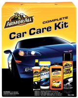 Armor All Car Care Kit (Ultra Shine Wash & Wax 16-Ounce, Original Protectant 10-Ounce, Tire Foam 20-Ounce and Glass Wipes 25-Count), 1 Kit (Pack of 6): Automotive