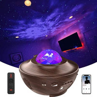Galaxy Projector, LED Night Light Star Projector for Ceiling for Adults Gifts Ocean Wave Projector for Bedroom Music Projector with Bluetooth Music Speaker Remote Control Relaxation Ambiance: Musical Instruments