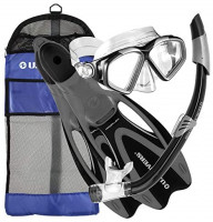 U.S. Divers Adult Cozumel Mask/Seabreeze II Snorkel/Proflex Fins/Gearbag : Sports & Outdoors