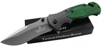 Snake Eye Tactical Wood Handle Spring Assist Knife Everyday Carry Engrave Collectors Pocket Eco'Gift Limited Edition Knife with Sharp Blade (Green) : Sports & Outdoors