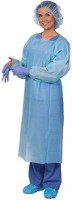 Polyethylene Cover Gown | 23GSM Disposable Gown with Sleeves, Easy Over the Head Feature and Waist Tie | Thumb Loop Enclosure for Increased Coverage | Business Friendly Pricing (15)
