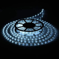 Buyagn 49Ft LED Rope Lights, Cuttable & Connectable LED Strip Lights Outdoor Waterproof Decorative Lighting for Indoor/Outdoor, Eaves, Backyards Garden, Party and Christmas Decorations(Cold White) : Garden & Outdoor