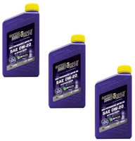 Royal Purple API-Licensed SAE 0W-20 High Performance Synthetic Motor Oil - (Pack of 3): Automotive