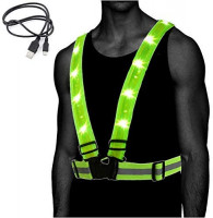 Atlecko 360° Rechargeable LED Running, Cycling, Hiking Reflective Vest & Belt for Men, Women & Kids - Safe & Comfortable - Bright Lights for High Visibility, Excellent Battery Life, Perfect for Night : Sports & Outdoors