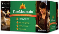 Pine Mountain, 3-hour Firelogs, 6-pack Fire Logs Ideal for Campfires or Home Use : Garden & Outdoor