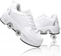 Roller Skates for Women, Shoes with Wheels for Girls, Kick Roller Shoes for Adults, Roller Skates for Boys, Moon Shoes for Kids, Skating Shoes for Men 2 in 1 Outdoor Recreation Skates : Sports & Outdoors