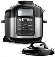 Ninja FD401 Foodi 8-Quart 9-in-1 Deluxe XL Pressure Cooker, Broil, Dehydrate, Slow Cook, Air Fryer, and More, with a Stainless Finish: Kitchen & Dining