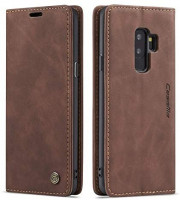 Samsung Galaxy S9 Plus Wallet Case Cover, Magnetic Stand Flip Protective Cover Leather Flip Cover Purse Retro Style with ID & Credit Card Slots Holder Case for Samsung Galaxy S9+ Plus 6.2(Coffee)