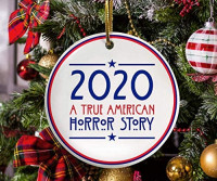 "None-brands 3"" Christmas face Cover 2020 Ornament Christmas Quarantine Ornament 2020 a True American Horror Story Funny Christmas 2020 Ornament Ceramic Ornament: Home & Kitchen"