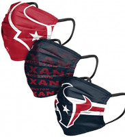 FOCO Houston Texans NFL Matchday Face Cover - Youth - 3 Pack (NFLFACEY): Clothing
