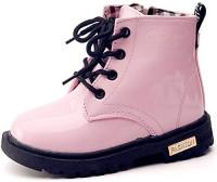 DADAWEN Boy's Girl's Waterproof Side Zipper Lace-Up Ankle Boots (Toddler/Little Kid/Big Kid) | Boots