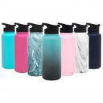 Simple Modern Summit Water Bottle with Straw Lid - Wide Mouth Vacuum Insulated 18/8 Stainless Steel Powder Coated