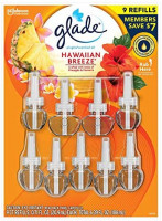 Glade Hawaiin Limited Edition PlugIns Scented Oils Refills 25% More 8 Ct-Hawaiian Breeze, Yellow: Home & Kitchen