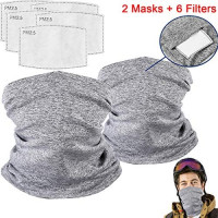 Face Mask Bandanas Face Shield Multifunctional Headbands Neck Gaiter Adults Kids at Men's Clothing store