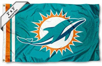 WinCraft Miami Dolphins 2x3 Feet Flag : Sports & Outdoors