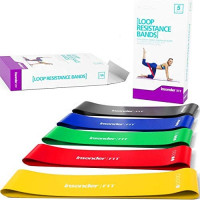 Resistance Bands [IMPROVED EDITION] Set Exercise Bands - Workout Bands Stretch Bands - Loop Kit for Legs Butt Glutes Yoga Crossfit Fitness Physical Therapy Home Equipment Training for Women Men : Sports & Outdoors