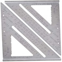 HOYIN 2PACK|7-inch Aluminum Speed Square Layout Tool|4 IN 1