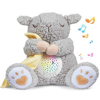 BEREST Baby White Noise Machine, Lullabies & Shusher Sheep Sleep Soother, Nursery Decor Night Light Projector, Toddler Crib Sleep Aid, Baby Shower Gifts Portable SheepToy : Baby