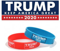 2 Pcs Trump 2020 Wristbands Keep America Great Bracelet Donald Trump Sillicone Bracelet 2020 : Sports & Outdoors