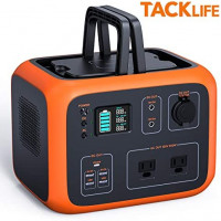 TACKLIFE Portable Power Station, 500Wh Outdoor Solar Generator with Pure Sine Wave 110V AC Outlets,QI-Certified Wireless Charging,USB-C PD 45W, recharged by Solar Panel/Wall Outlet/Car : Garden & Outdoor