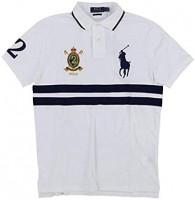 Polo Ralph Lauren Men's Banner Short Sleeve Mesh Polo Shirt at Men's Clothing store