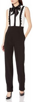 Betsey Johnson Women's All The Trimmings Sleeveless Jumpsuit: Clothing