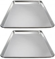 Winware ALXP-1826 Commercial Full-Size Sheet Pans, Set of 2 (18-Inch x 26-Inch, Aluminum): Kitchen & Dining