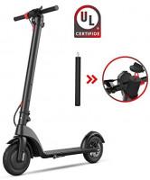 """BEEYEO Electric Scooter, X7 Scooters for Adults with Three Speeds Up to 13 Miles 15.5MPH Portable Folding Commuting Electric Scooters 8.5"""" Solid Tires Double Braking System : Sports & Outdoors"""