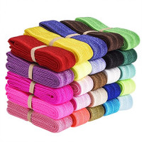eBoot 25 Pieces Elastic Stretch Foldover Elastics Hair Ties Headbands, 25 Colors, 38 Inches by 3/5 Inch : Beauty