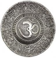 """govinda - Tibetan Incense Burner - Larger OM Symbol - 4.5"""" Diameter: Home & Kitchen"""