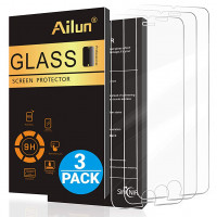 Ailun Screen Protector Compatible with iPhone 8 7 6s 6,[4.7inch][3 Pack],2.5D Edge Tempered Glass Compatible with iPhone 7/8/6s/6,Case Friendly