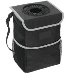 EPAuto Car Trash Can with Lid and Storage Pockets