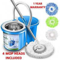 Simpli-Magic 79193 Spin 4 Mop Heads Included, Blue: Home & Kitchen