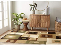 Home Dynamix Tribeca_3PC_5ft2inx7ft2in, 1ft9inx7ft2in, 18ftx31ft_HD5383-548 Area Rug, 3 Piece Set, Brown/Green: Kitchen & Dining