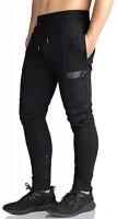 EK Mens Gym Jogger Pants Training Workout Slim fit Sweatpants Causal Leg Zipper: Clothing
