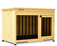 Lovupet No Assembly Wooden Portable Foldable Pet Crate Indoor Outdoor Dog Kennel Pet Cage with Tray 0650 (Large) : Pet Supplies