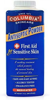 Columbia Skincare Medicated Antiseptic Powder for Sensitive Skin (14 oz) Destroys Bacteria, Soothes Itching and Irritation, Reduces Inflammation: Health & Personal Care