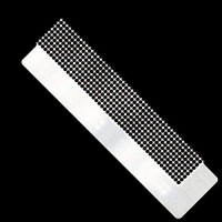 5D DIY Diamond Painting Tool Stainless Steel Ruler with Up To 800 Blank Grids for Diamond Painting Round Full Drill & Partial Drill 1 Pcs(15 cm 400 holes)