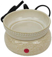 Iconikal 2-in-1 Scented Candle and Wax Tart Melt Warmer, Ivory Leaves: Home & Kitchen