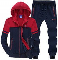 Modern Fantasy Men's Colour Blocking Winter Casual Tracksuit Running Joggers Sports Sweatsuit Big: Clothing